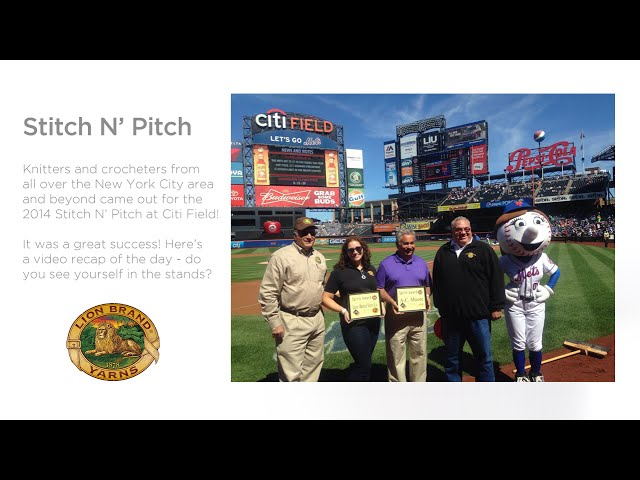 Lion Brand® at the 2014 Stitch N' Pitch!