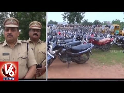 Cordon And Search Operation In Nirmal | Police Arrest 10 Suspects & Seized 133 Vehicles | V6 News