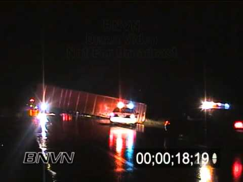 8/29/2001 Aftermath of a Semi Truck blown over in a storm