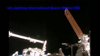 Real UFO clear view NASA tv, live space feed sighting 2017