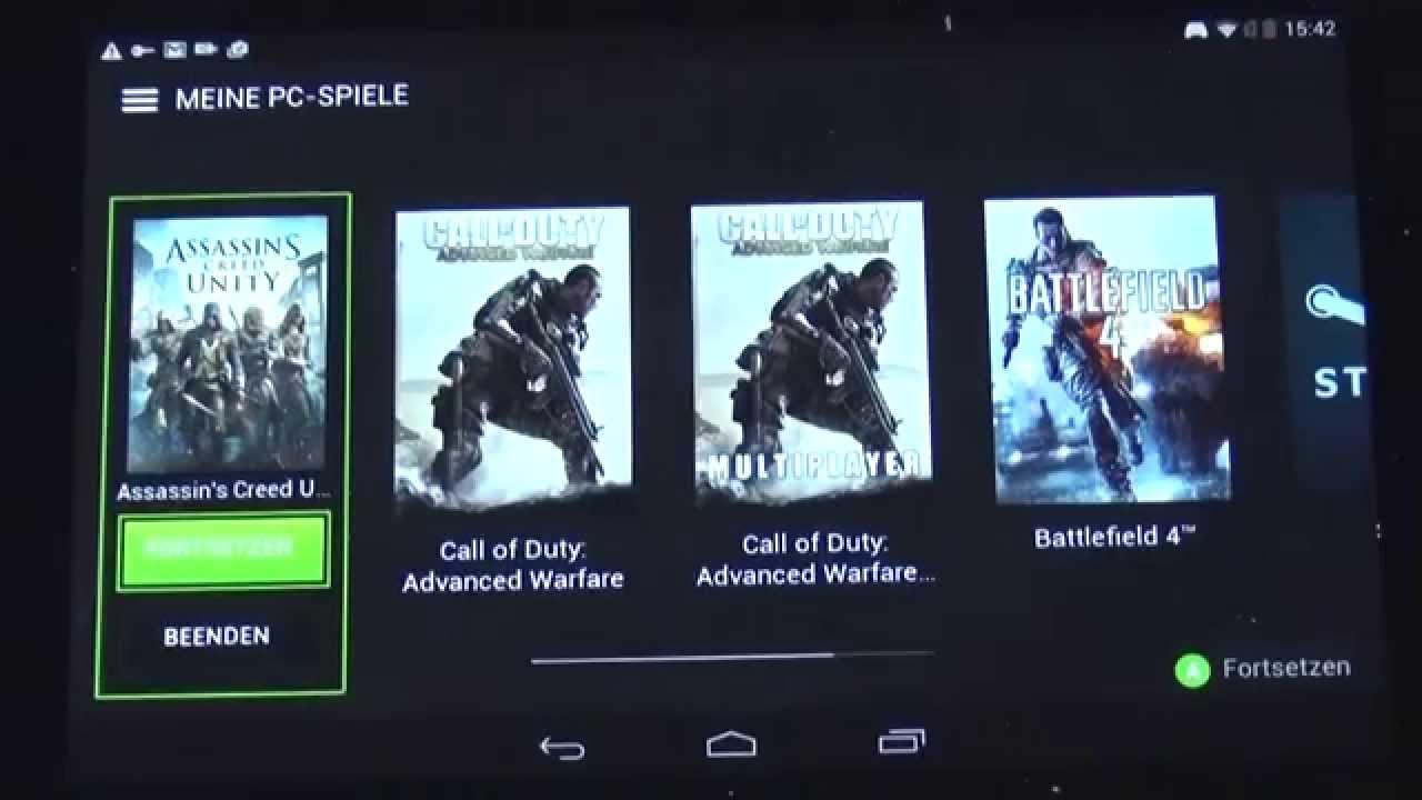 tablet spielen