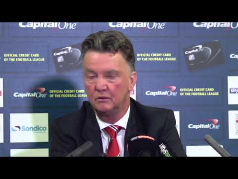 Manchester United's Louis van Gaal said he was