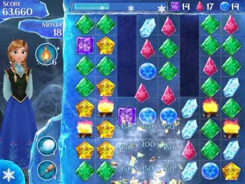 Frozen Free Fall Level 223 Live Action Play Walkthrough