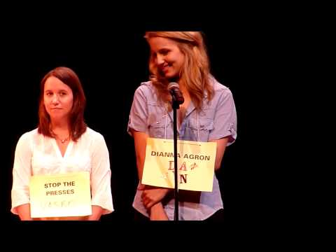 "Dianna Agron participa do ""Spelling Bee For Cheaters"" - Round Final - Parte 1 (legendado)"