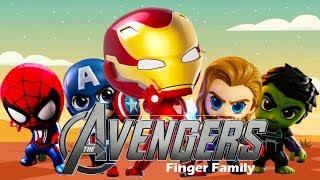 Avengers Finger Family Nursery Rhymes Song | Superheroes Toys