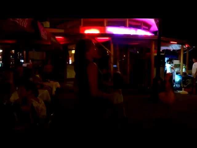 """Летний вечер в Лазаревском, мы с подругой в кафе """"Изюм"""", Lazarevskoe - SOCHI - RUSSIA"""