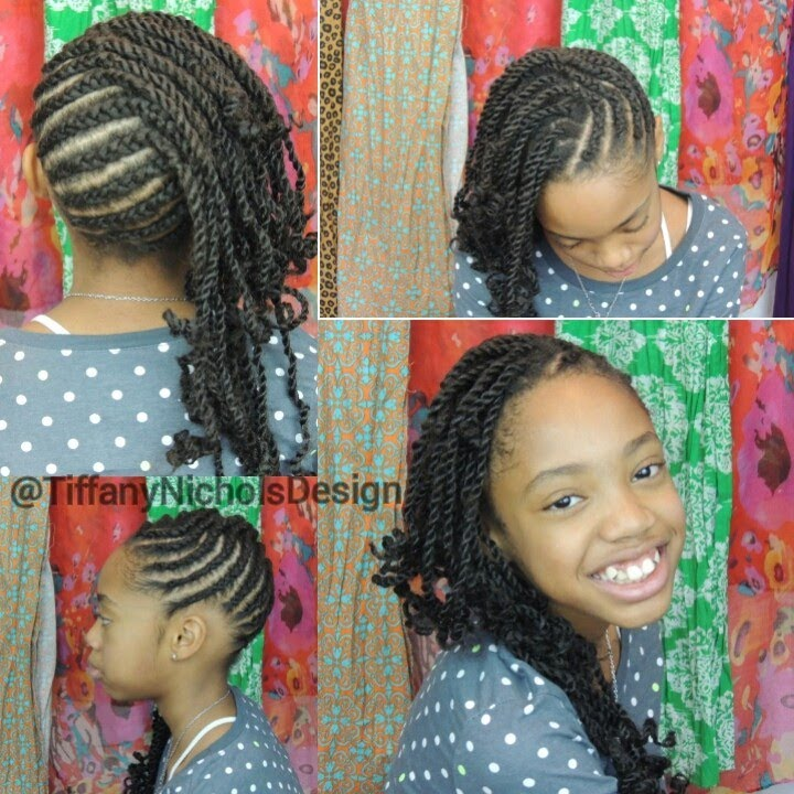 natural twists hairstyles : Cornrows and Twists Natural Hairstyle (Kid Friendly) - YouTube