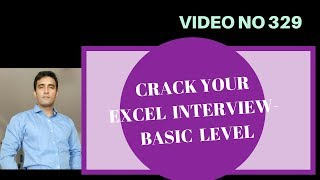 Learn Excel - Video 329- Excel Interview Questions - Mix Up