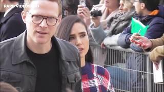VIDEO Jennifer Connelly & Paul Bettany attend Paris Fashion Week 5 march 2019