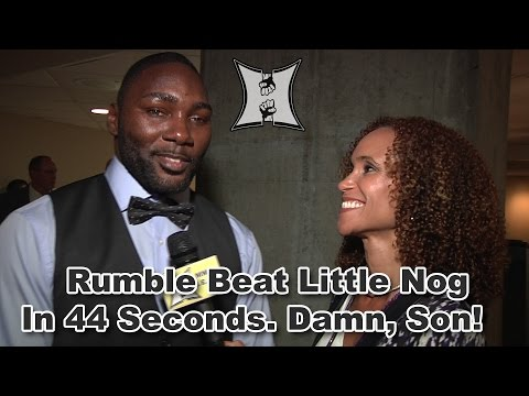 UFCs AnthonyRumble Johnson On Surprising 44second TKO Of Nog Fighting Rashad Evans