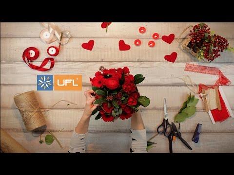🌹Заказать букет-микс в красных тонах | U-F-L.net