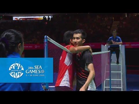 Badminton Mens Singles Gold Medal Match | 28th SEA Games Singapore 2015
