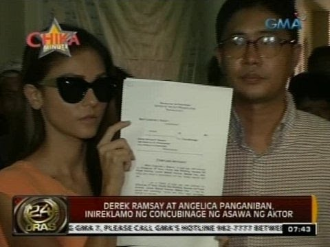 24 Oras: Derek Ramsay At Angelica Panganiban, Inireklamo Ng Concubinage Ng Asawa Ng Aktor video