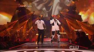 Chris Brown & Usher Preform - New Flame