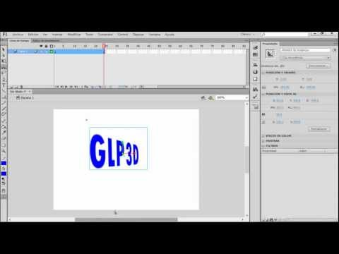 Como animar un texto en 3D con Adobe flash CS6 Corto Tutorial muy fácil.mp4