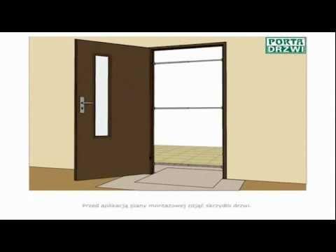 Poradnik Montaż ościeżnicy metalowej regulowanej Porta Drzwi Akademia Montażu