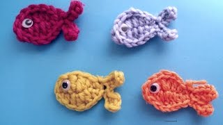 Very Easy  Crochet Fish Applique