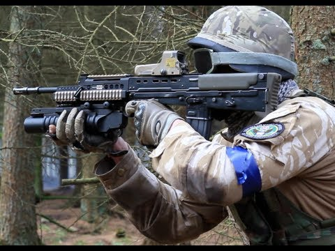 Airsoft War G36C L85, M203, M4 S-System Section8 HD