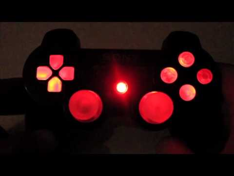 MrModz - Modded PS3 Controller - Super Bright Color Changing LED Buttons