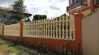 Cách thi công hàng rào bê tông ly tâm : phần 2