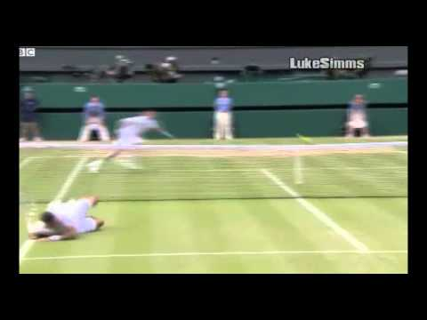 Tsonga vs Djokovic - Best 3 Rallies of Wimbledon 2011. *ALL 3 DIVING POINTS*