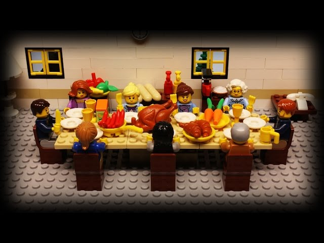 Cute Lego Thanksgiving Stopmotion - Video