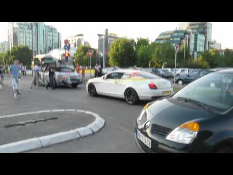Gumball 3000 2011 Belgrade Maximillion Cooper in his Rolls Royce Phantom Drophead!!!!