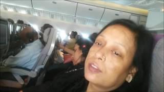 Takeoff from Dubai landing at Mumbai Emirates 777