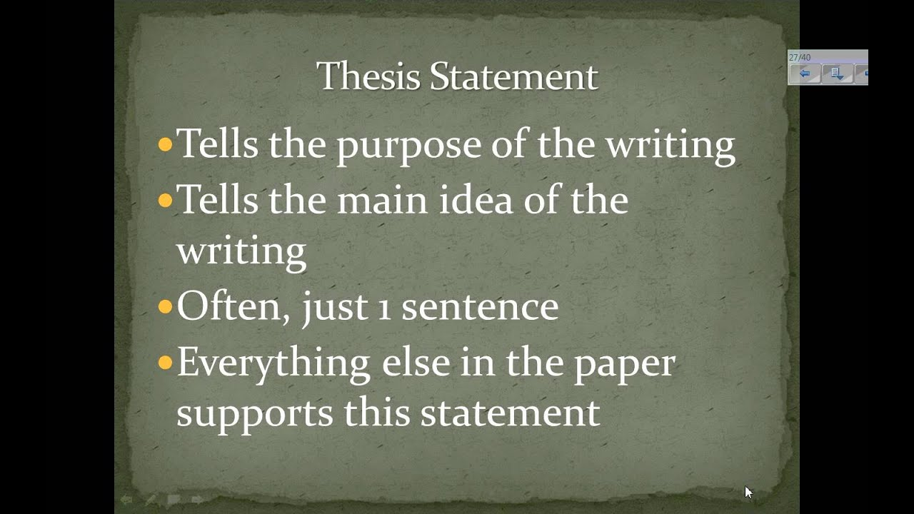 elements of a multi paragraph essay