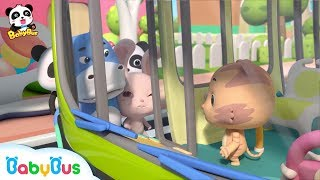 Baby Panda Takes a Bus   Kids Good Manners   Safety Tips for Kids   BabyBus