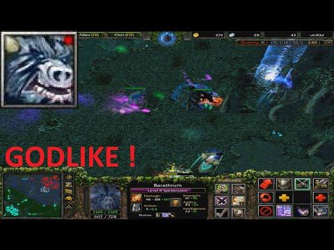 DotA 6.83d - Barathrum, Spirit Breaker GODLIKE !