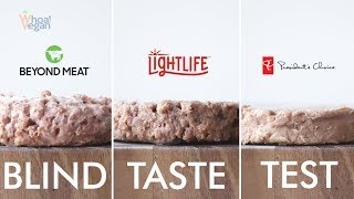 Blind Taste Test & Review: Plant-Based Burger Edition Beyond Meat vs Light-Life vs Presidents Choice