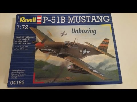Unboxing P-51B Mustang Revell 1/72 (Metalstorm GB)