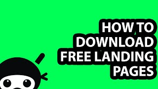 How to Download FREE Landing Pages