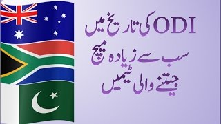 Top 15 Teams with the highest wins in ODI! Cricket Records