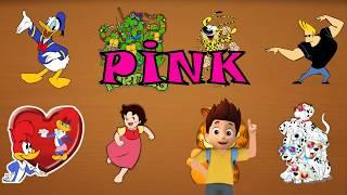 Learn Colors  Ninja Turtles - Woody Woodpecker - 101 Dalmatians - Heidi - Johnny Bravo -Marsupilami
