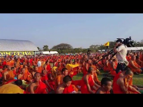 Buddhist's gathering for justice in BUDDHAMONTHON, Thailand (15/02/2016)