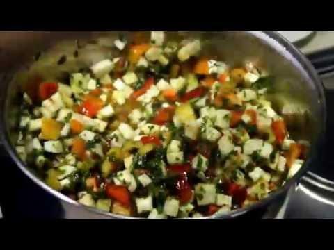 Юрча из кабачка ( Очень вкусное овощное рагу )