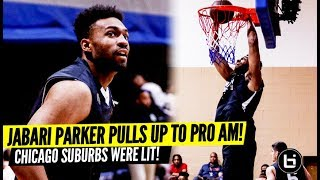 Jabari Parker Game Winning Block at Matteson Pro Am! Down to the Wire! Full Highlights!