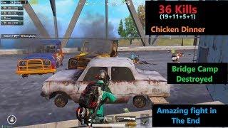 [Hindi] PUBG Mobile | Bridge Camp Fight & Amazing Chicken Dinner