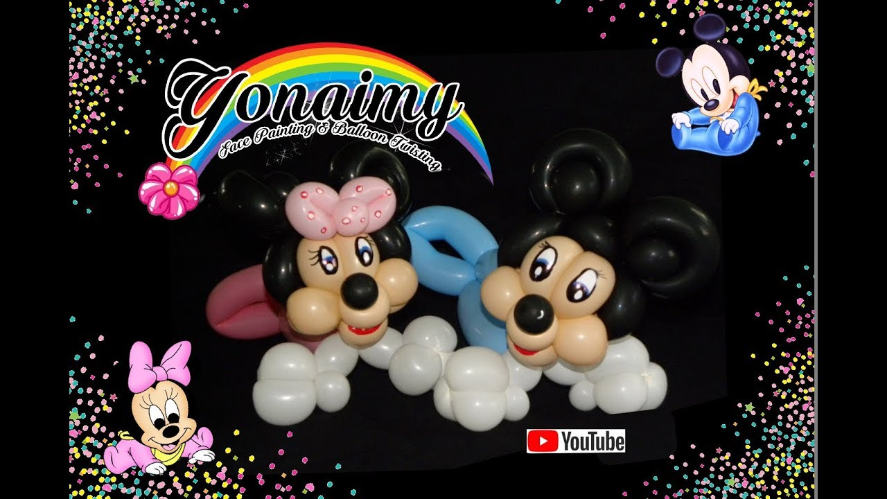 Como hacer a mickey o minnie mouse bebe how to make a baby mickey or minnie mouse youtube - Photo minnie et mickey bebe ...