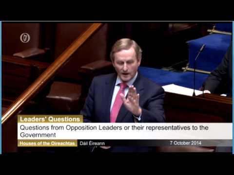 Gerry Adams questions Taoiseach on Irish Water