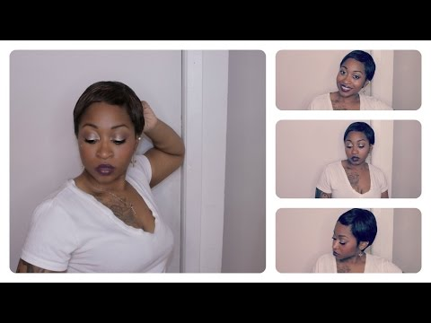 My Short  Hair |  Instant Fab  Pixie Crop  Wig Review 1b/33 | Samsbeauty