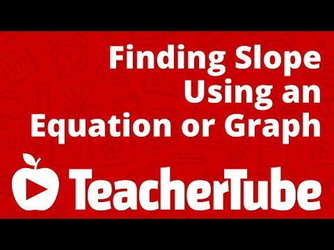 Finding Slope Using an Equation or Graph