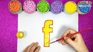 How To Draw f Lowercase For Anphabet   English Color Kids