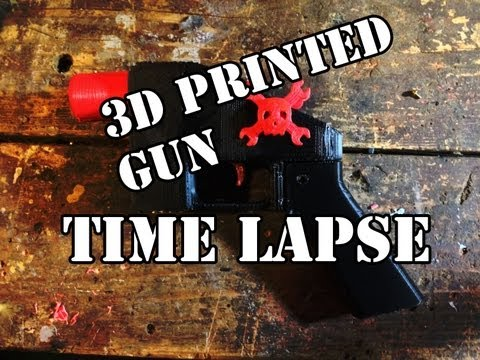 First 3d printed gun timelapse
