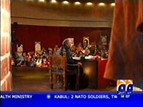 Anwar Masood Urdu Funny Poetry On Geo Part 1 video