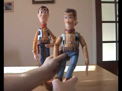 Toy Story Collection Woody & Buzz compared to Old Woody & Buzz