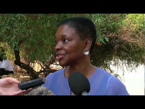 Emergency Relief Coordinator Valerie Amos in South Sudan