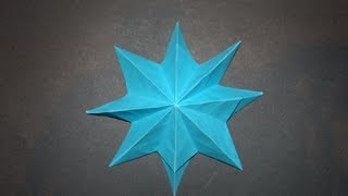 How To Make An Origami Eight Pointed Star
